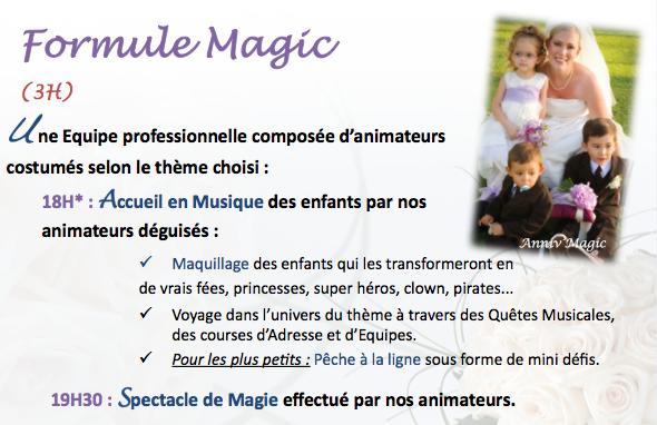 animation mariage enfant : formule prestige et magic