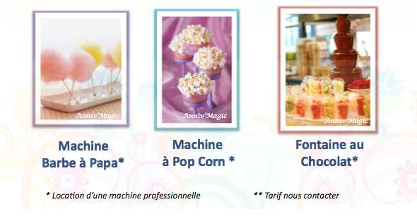 pop corn, barbe à papa, location machine, paris