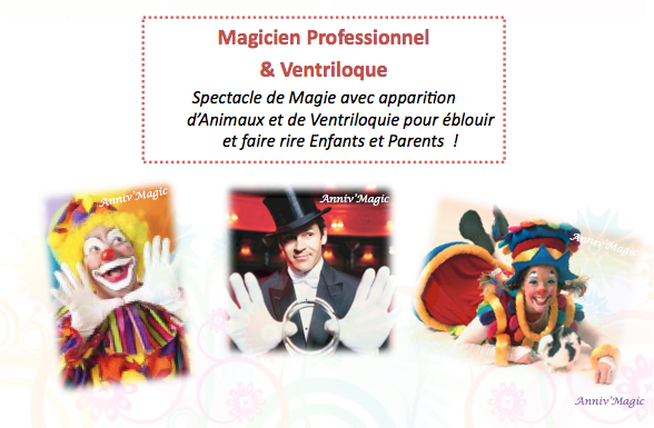 Spectacle de clown, magicien, ventriloque paris